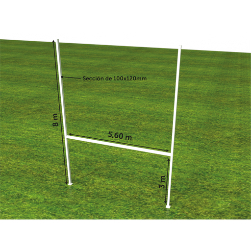 [G.5.2] Postes rugby aluminio